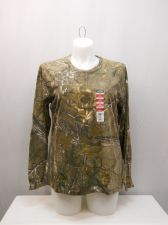 Buy SIZE 20 Womens Henley Top REALTREE Camouflage Long Sleeves Hunting Sport Pullove