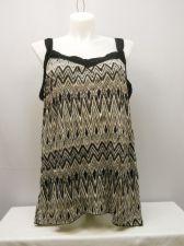 Buy French Laundry Womens Knit Cami Top Plus Size 3X Geometric Lace Trim Lace Straps