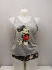 Buy DISNEY Womens 2PC Camisole Set SIZE 3XL Grey Mickey Tank Top Matching Panties