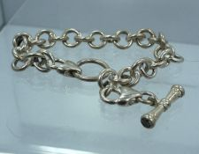 Buy Sterling 925 Silver Starter Charm Bracelet w/ Gemstone Toggle End by FAS Italy