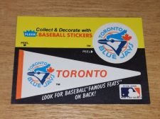 Buy VINTAGE Toronto Blue Jays 1986 FLLER LIMITED EDITION STICKERS NMNT-MNT