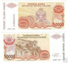 Buy CROATIA 50,000 DINARA AWESOME NOTE GEM UNC~~FREE SHIP~~