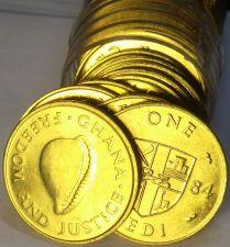 Buy Gem Unc Roll (50 Coins) Ghana 1984 Cedi Coins~Cowie Shell~Free Shipping