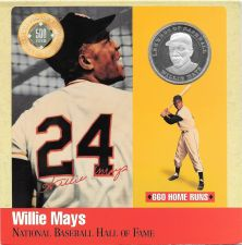 Buy Rare .999 Silver Proof Willie Mays 500 Club Cooperstown Commemorative~Free Shi