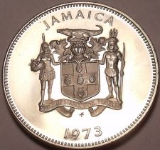 Buy Rare Large Proof Jamaica 1973 20 Cents~Mahoe Trees~28,000 Minted~Free Shipping