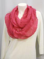 """Buy Cejon Women's Solid Pink Cowl Infinity Scarf 80""""X 19"""" 100% Acrylic"""