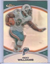 Buy NFL 2010 TOPPS FINEST REFRACTOR RICKY WILLIAMS DOLPHINS MNT