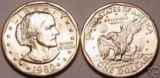 Buy BRILLIANT GEM UNC 1980-D SUSAN B. ANTHONY DOLLAR~FR/SHI