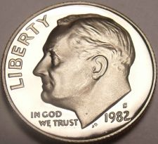 Buy 1982-S CAMEO PROOF ROOSEVELT DIME~SUPER NICE~FREE SHIP~