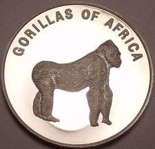 Buy Silver Proof Uganda 2003 1,000 Shillings~Gorilla On All Fours~Africa~Free Ship