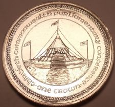 Buy Massive Gem Unc Isle Of Man 1984 Crown~Parliamentary Conference~Free Shipping~