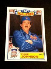 Buy VINTAGE DAVE JOHNSON METS 1987 TOPPS ALL STAR BASEBALL #12/22 GD-VG