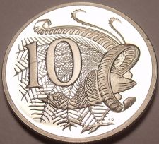 Buy Cameo Proof Australia 1987 10 Cents~Lyrebird~70,000 Minted~Free Shipping
