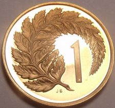 Buy Rare Proof New Zealand 1981 Cent~Silver Fern Leaf~Only 18,000 Minted~Free Ship