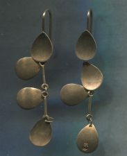 Buy Vintage Gold Washed Sterling 925 Silver Hook Earrings Signed (Conjoined) E R