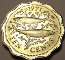 Buy Rare Gem Unc Bahamas 1971 10 Cents~Bone Fish~Only 13,000 Minted~Free Shipping