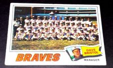 Buy VINTAGE ATLANTA BRAVES 1977 TOPPS TEAM CARD #442 GD-VG