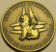 Buy Nato Office Of Security Solid Bronze Gem Unc Medallion~Excellent~Free Shipping