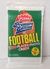 Buy (5) 1990 FLEER PREMIERE EDITION FOOTBALL NFL PACKS