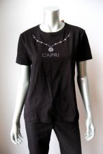 Buy Stedman NEW Blk Stretch Cotton Studs CAPRI Pattern Short Sleeves Top Shirt XL PR