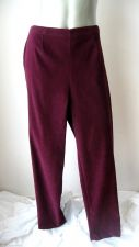 Buy Counterparts NEW Burgundy Pullon Flat Front Elastic Back Stret Suede Pants XL PR