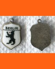 Buy BERLIN Enamel & Sterling Silver Travel Shield Souvenir Charm