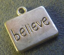 Buy Silver Inspirational BELIEVE Charm