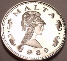 Buy Rare Cameo Proof Malta 1980 2 Cents~Queen Of The Amazons~Only 3,451 Minted~Fr/Sh