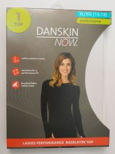 Buy Danskin Now White Performance Baselayer Tagless Brushed Crew Neck Top XL 16-18