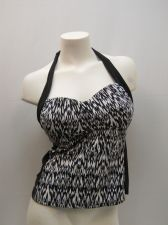 Buy SIZE M 8 10 Womens Tankini Halter Top CATALINA Adjustable Straps Geometric