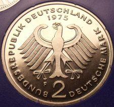 Buy Gem Cameo Proof Germany 1975-F 2 Marks~Konrad Adenauer~43k Minted~Free Shipping