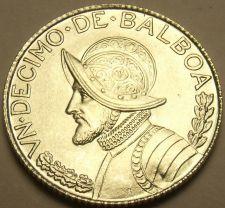 Buy Gem Unc Silver Panama 1962 1/10th Balboa~Fantastic~Free Shipping
