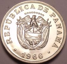 Buy Rare Proof Panama 1966 5 Centesimos~See All Our Panama Proofs~Free Shipping