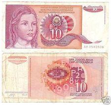 Buy YUGOSLAVIA 10 DINARA CIRCULATED BARGAIN NOTE!!!!!