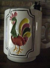 "Buy *****L@@K ***** ""AMERICANA FOLK ART ROOSTER"" COFFEE MUGS (3)"