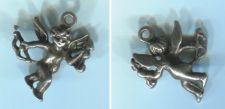 Buy CHARM: silver : CHERUB ANGEL CUPID w/ BOW AND ARROW