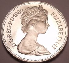Buy Large Cameo Great Britain Proof 1980 10 New Pence~Lion Coin~Excellent~Free Ship