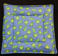 Buy 100% quilted Cotton Pot Holder Frogs design hand made