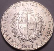 Buy Massive Rare Silver Oriental Uruguay 1917 Peso~Fantastic~Free Shipping
