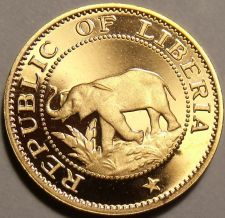 Buy Rare Proof Liberia 1968 Cent~Only 14,396 Minted~Elephant Coin~Free Shipping