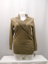 Buy Sweater Size XL STYLE & CO Women's Rye Long Sleeve Shawl Collar Lace-up Pullover