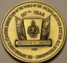Buy Huge 44.2mm Supreme Council 33 Mother Jurisdiction Freemason Medallion~Free Ship