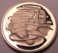 Buy Large Cameo Proof Australia 1980 20 Cents~Only 68k Minted~Duckbill Platypus~F/S