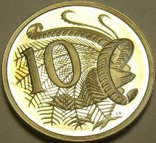 Buy Cameo Proof Australia 1982 10 Cents~Lyrebird~100,000 Minted~Free Shipping