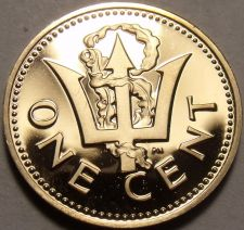 Buy Cameo Proof Barbados 1975 Cent~Only 20,000 Minted~Lighthouse~Free Shipping