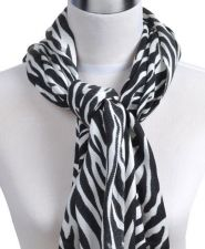 Buy Animal Print Pashmina Scarf, Black/White