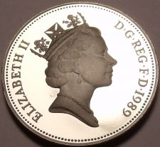 Buy Large Cameo Proof Great Britain 1989 10 Pence~100,000 Minted~Crowned Lion~Fr/Shi