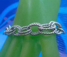 "Buy Sterling Double Twisted Cable Link Up To 7.75"" Bracelet or Charm Bracelet"