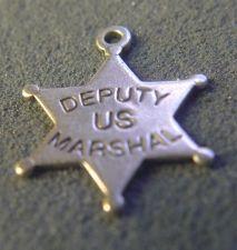 Buy vintage CHARM : DEPUTY U.S. MARSHALL STAR : STERLING BY RIO GRANDE