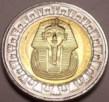 Buy Gem Unc Bi-Metal Egypt 2010 1 Pound~King Tutankhamun~Read The History~Free Ship